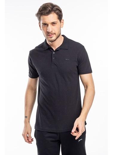 Slazenger Slazenger SOHO Erkek T-Shirt Hardal Siyah